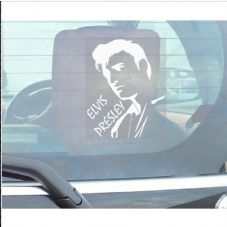 1 x Elvis Presley Sticker Car,Van,Truck,Vehicle Self Adhesive Vinyl Sign-The King of Rock and Roll-1